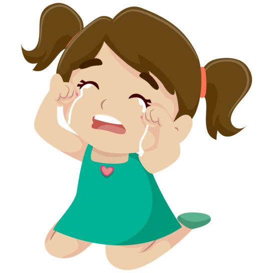 toddler girl having tantrum